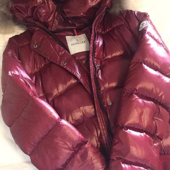 a081f2b9e Moncler Burgundy down jacket